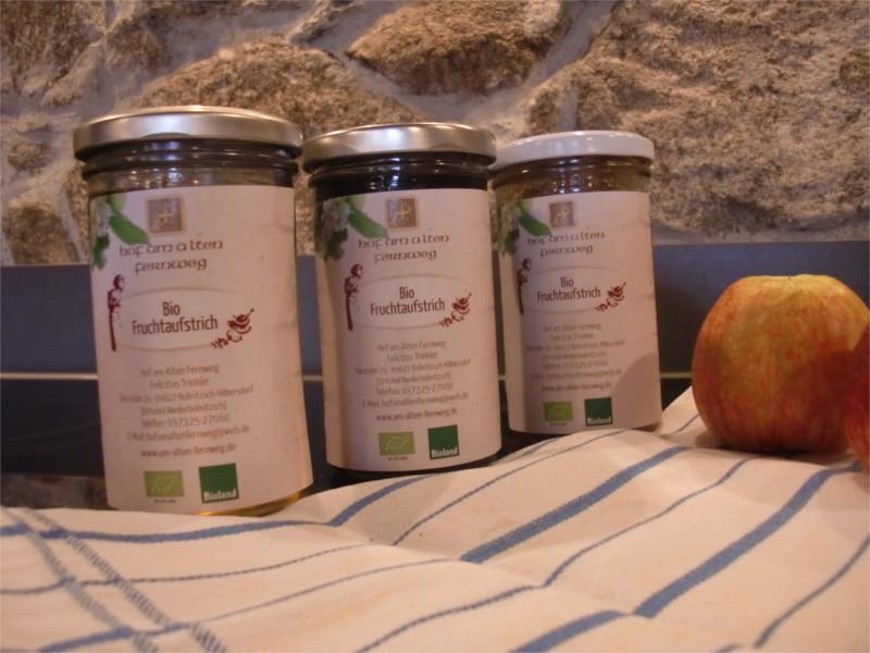 """Fruchtaufstrich """"Rhabarber-Apfel-Vanille""""   250 g"""